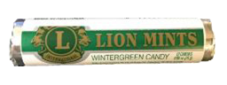 Lion Mint Rolls - Wintergreen Box